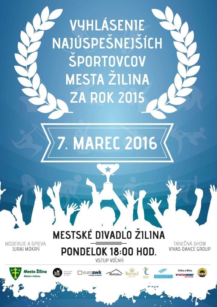 Vyhlásenie najúspešnejších športovcov mesta Žilina za rok 2015
